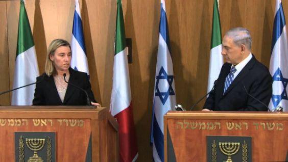 Mogherini con Netanyahu2