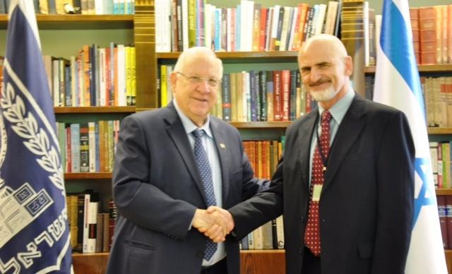 El presidente de Israel se reúne con el nuevo rector de la Universidad Hebraica