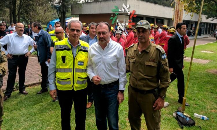 Luis Videgaray Caso recibió a la brigada israelí en el Centro de Alto Rendimiento de la CONADE
