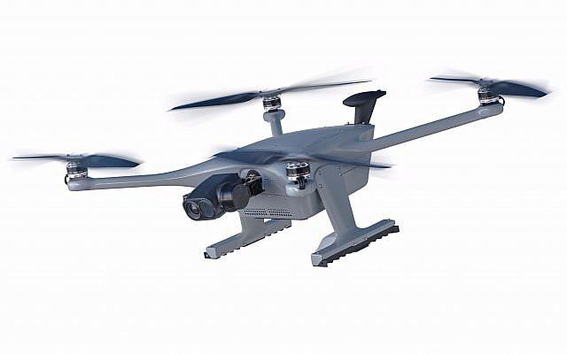 """La compañía israelí Percepto presenta a su drone autónomo """"Sparrow I"""""""