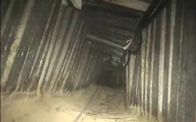 El ejército israelí confirma que destruyó un túnel terrorista de Hamas en la Franja de Gaza