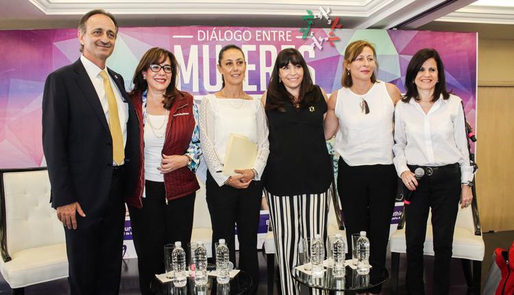 Claudia Sheinbaum, Beatriz Gutiérrez, Tatiana Clouthier y Yeidckol Polevnsky se reúnen con mujeres de la Comunidad Judía de México