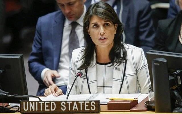 """Nikki Haley: ONU cometió un """"juicio inmoral"""" con resolución aprobada"""