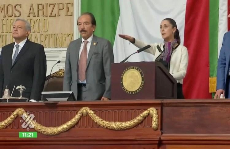 Claudia Sheinbaum toma protesta como primera jefa de gobierno judía de la Ciudad de México