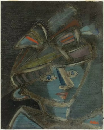 Woman with Hat 1940 by Jankel Adler 1895-1949