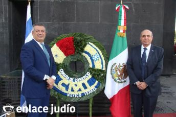 19-11-2019-OFRENDA EN EL MONUMENTO DE LA REVOLUCION POR PARTE DE LA CAMARA DE COMERCIO MEXICO ISRAEL 11