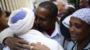 Inmigrantes de la comunidad Falash Mura llegan a Israel desde Etiopía