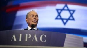 Mike Bloomberg, el único candidato presidencial demócrata que asistió a la conferencia de AIPAC, atacó a Bernie Sanders por boicotear el evento.