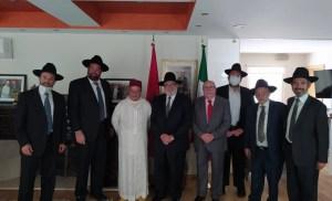 Rabinos marroquíes en México se reunieron en la Embajada del Reino de Marruecos en México para rezar por la salud de Su Majestad el Rey Mohammed VI