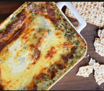 Receta del día: Lasaña de espinacas y matzá