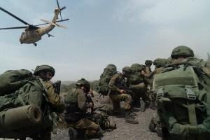 Soldados de las Fuerzas de Defensa de Israel durante una operación