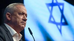 El ministro de Defensa de Israel y líder del partido Kajol Lavan, Benny Gantz