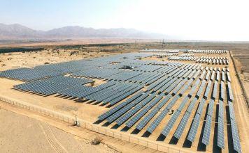 Estación de generación de energía solar en el sur de Israel