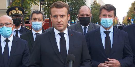 """Macron llama """"ataque terrorista islámico"""" a los asesinatos en Niza"""
