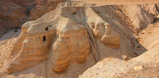 Fotografía del sitio de Qumrán en Judea y Samaria