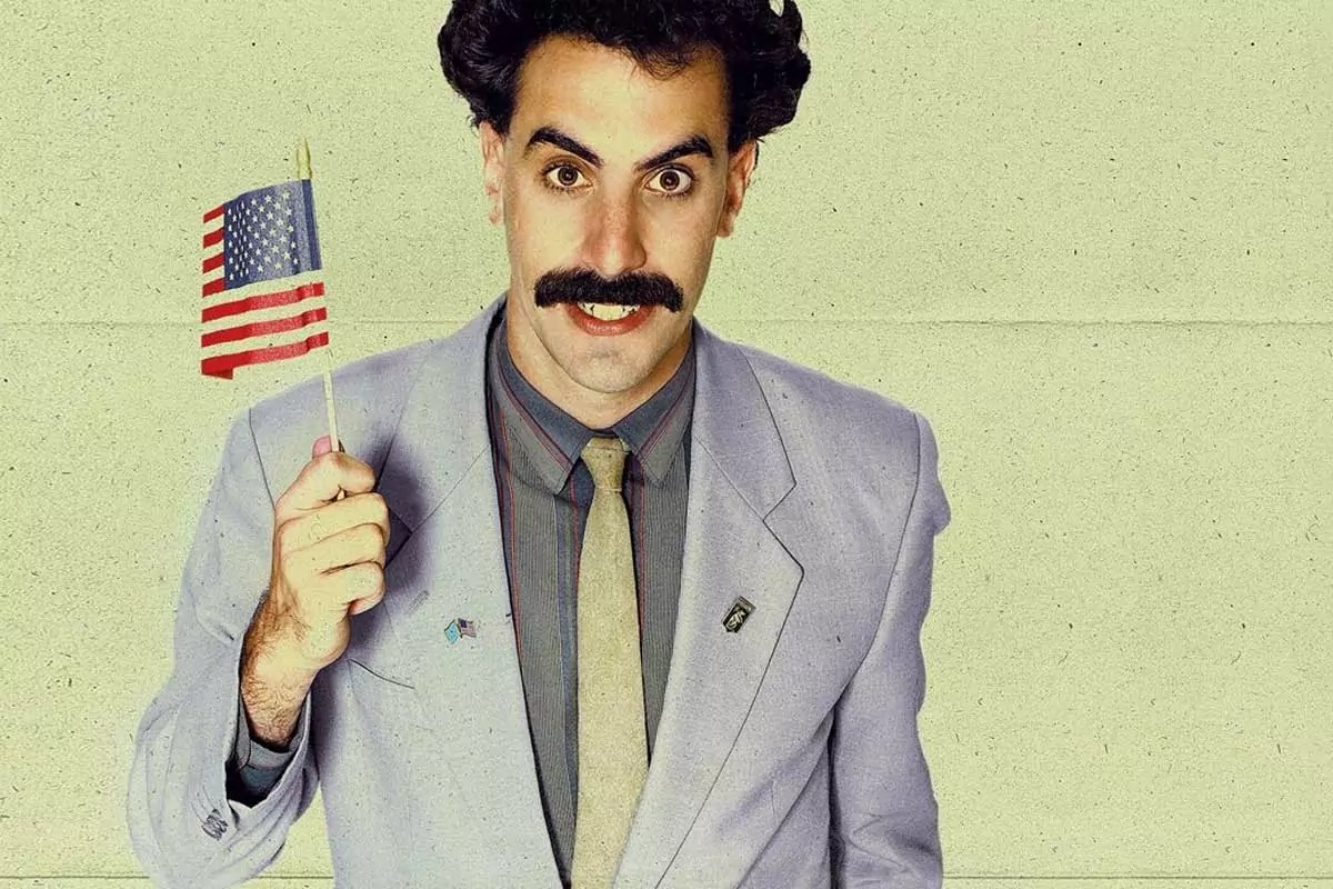 "Poster de la secuela de ""Borat"" de Sacha Baron Cohen"
