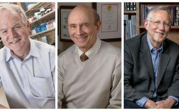 los científicos Harvey Alter, Charles Rice, Michael Houghton ganadores del premio Nobel de Medicina