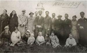 Familia judía en su llegada a México
