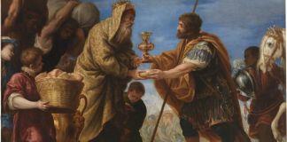 Abraham y Melquisedec por Juan Antonio de Frías