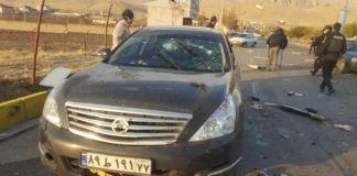 Automóvil hallado en el lugar del asesinato de Mohsen Fakhrizadeh