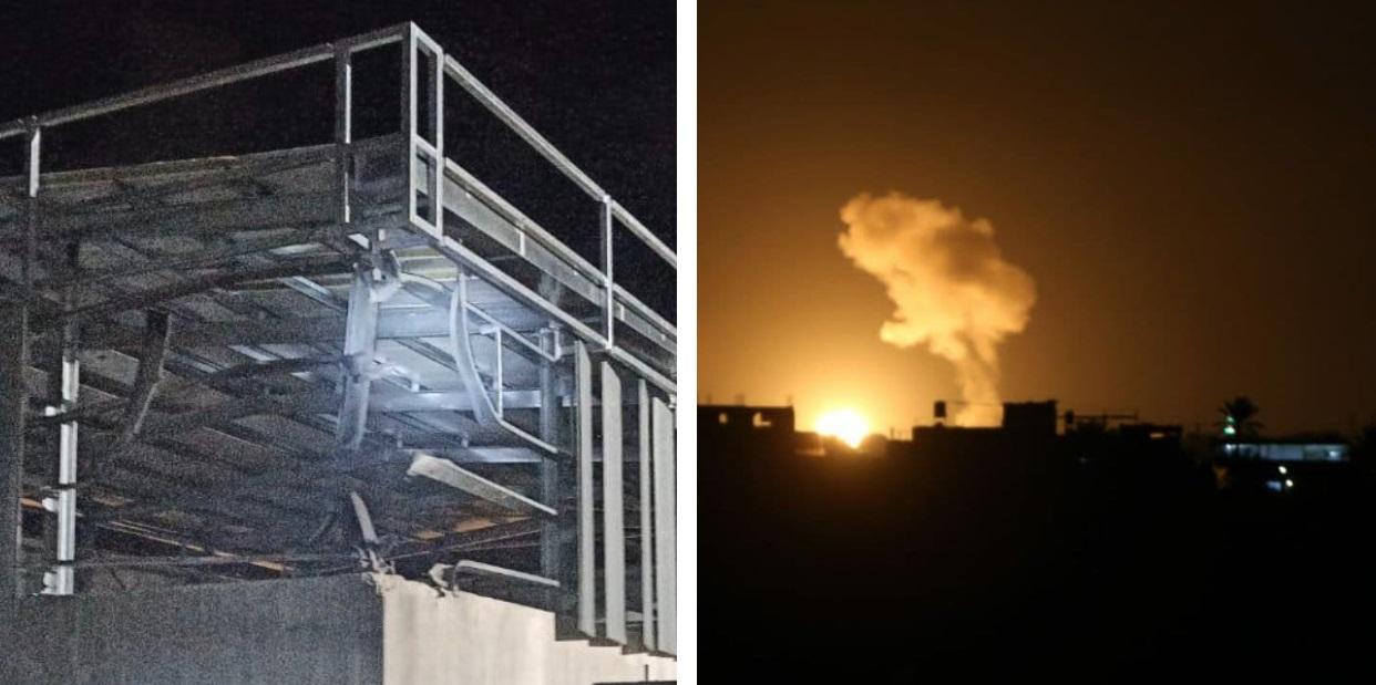 Imágenes de una fábrica en Ashkelón y de un ataque de Israel en Gaza