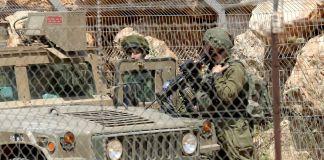 Dos soldados de Israel en la frontera con Líbano