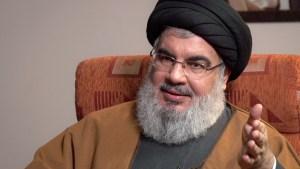 El líder de Hezbolá, Hassan Nasrallah