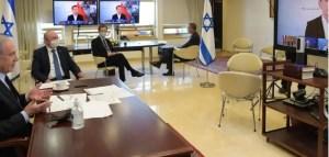 Netanyahu participó en una videoconferencia con otros líderes mundiales