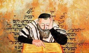 una persona leyendo en ivreo o hebreo