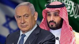 Primer ministro de Israel Benjamín Netanyahu y príncipe heredero de Arabia Saudita
