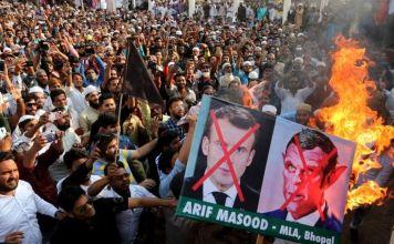 Protestas anti Emmanuel Macron en países musulmanes