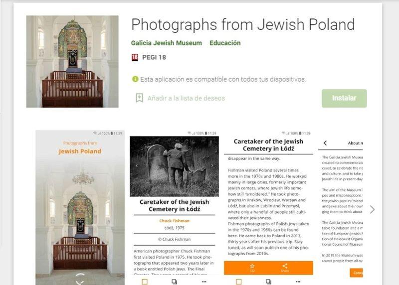 Aplicación móvil de fotografías lanzada por el Museo judío de Polonia