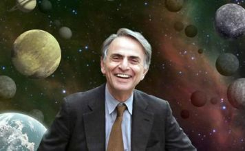 Retrato de Carl Sagan
