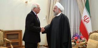Josep Borrell y el presidente de Irán, Hassan Rouhani