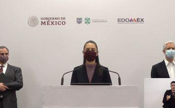 En conferencia se informó que se regresa a semáforo rojo en la megalópolis del Valle de México y se se suspenden actividades no esenciales