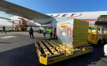 Este sábado 26 de diciembre llegaron 42 mil 900 vacunas provenientes de la planta de Pfizer en Puurs, Bélgica a México