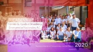 """CADENA fue reconocido por su labor humanitaria por parte de el Cemefi con el """"Reconocimiento al Compromiso con los Demás 2020"""""""