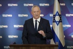 Ministro de Defensa de Israel, Benny Gantz