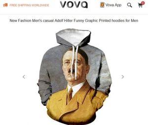 El Centro Simon Wiesenthal denunció la venta de sudaderas con la imagen impresa de Hitler en una sudadera ofertada en un portal de moda online.