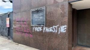 Sinagoga vandalizada en Estados Unidos
