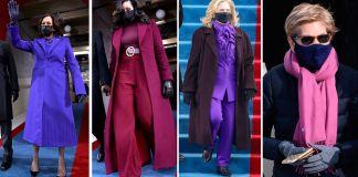 El Día de la Inauguración tomó su lugar en la historia con varias mujeres influyentes vestidas de purpura para marcar su importancia.