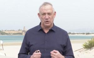 Ministro de Defensa de Israel, Benny Gantz sobre Irán