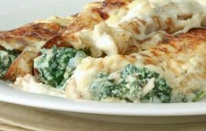 Estos canelones a los cinco quesos y espinacas son excelente opción para ofrecer a tu familia una suculenta cena cualquier día de la semana.