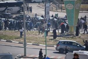 Protesta en el sector árabe israelí