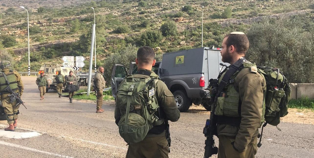 Soldados israelíes en Judea y Samaria