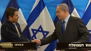 Juan Orlando Hernández y Benjamín Netanyahu