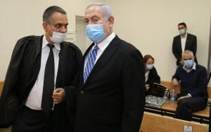 Netanyahu en un tribunal