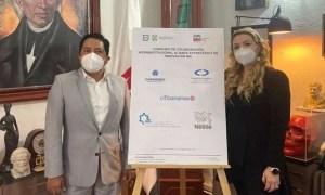Participantes de un convenio de colaboración entre la alcaldía Miguel Hidalgo, la IP y el Comité Central de la Comunidad Judía de México