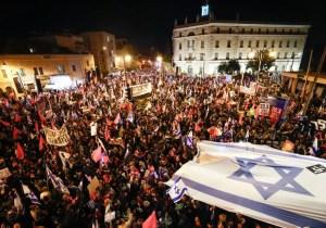 Protesta masiva contra Netanyahu