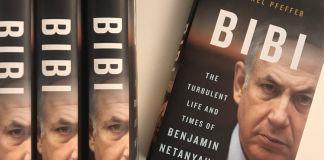 "Libros de ""Bibi. The turbulent life and times of Benjamin Netanyahu""."